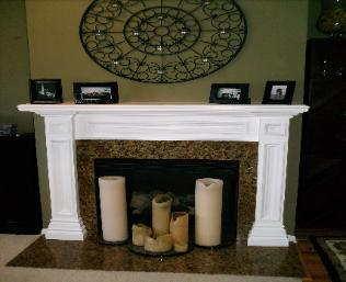 Custom Mantel & Granite Addition Link 1