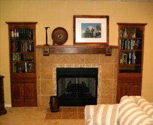 Custom Mantel & Fireplace Addition 1 Link