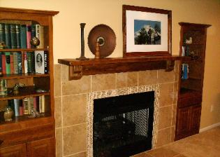 Custom Mantel & Fireplace Addition 2 Link