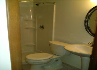Pedestal sink & Shower Unit Remodel 1 Link 2